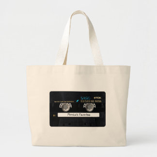 Customizable Cassette Tape Jumbo Tote Bag
