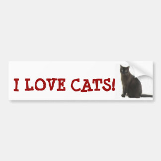Customizable Cat Lover Gifts & Greetings Bumper Sticker