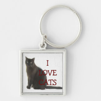 Customizable Cat Lover Gifts & Greetings Key Ring