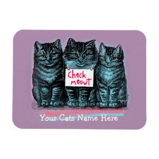 Customizable Cat Meme Magnet 'Check Meowt'