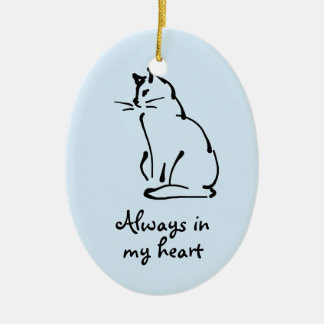 Customizable Cat Memorial Ornament