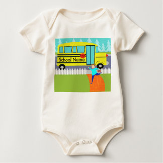 Customizable Catching the School Bus Baby Creeper