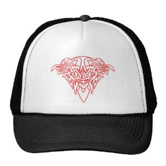Customizable Celtic Tribal Heart Outline Design Mesh Hats