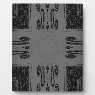 Customizable Center Gray Black Gothic Plaque