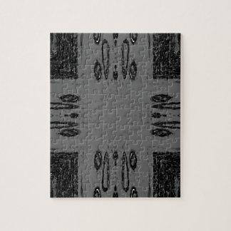 Customizable Center Gray Black Gothic Puzzle