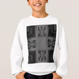 Customizable Center Gray Black Gothic Sweatshirt