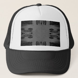 Customizable Center Gray Black Gothic Trucker Hat