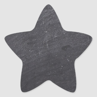 Customizable Chalkboard Base Star Stickers