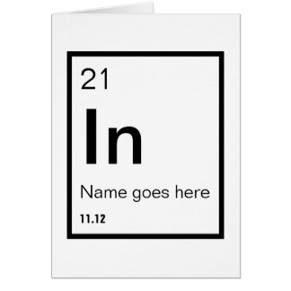 Customizable Chemical Symbol Birthday Card