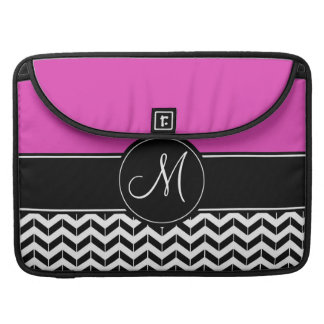 Customizable Chevron Hot Pink Sleeve For MacBook Pro