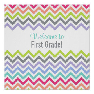Customizable Chevron Stripe Poster