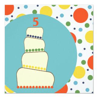 Customizable Child's Birthday Invitation - Dots