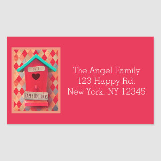 Customizable Christmas Bird House Stickers