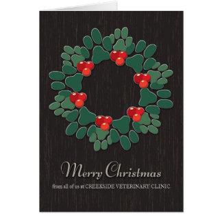 Customizable Christmas Card from Veterinarian