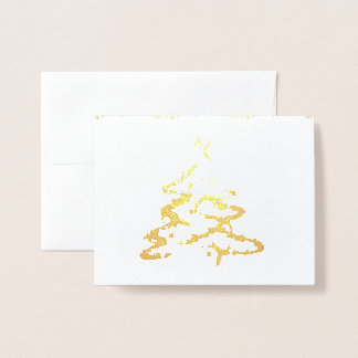 Customizable Christmas card gold foil photo