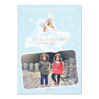 Customizable Christmas Dream Angel Card 13 Cm X 18 Cm Invitation Card