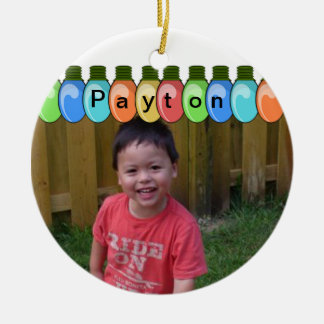 Customizable Christmas Lights Photo Ornament