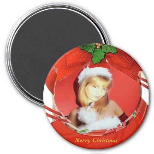 Customizable Christmas Magnet