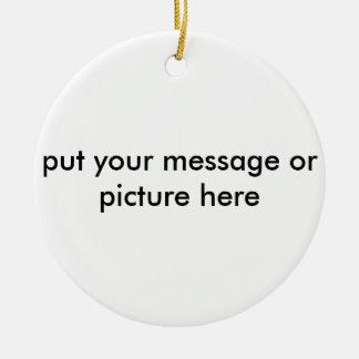 customizable christmas ornament