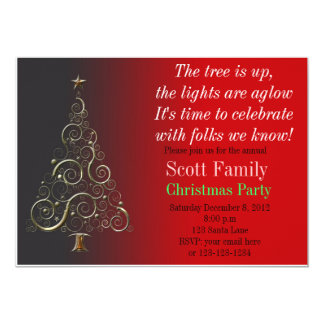 Customizable Christmas Party Invitation