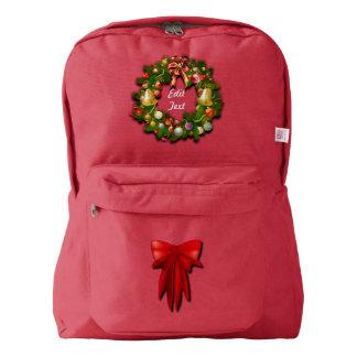 Customizable Christmas Wreath Backpack