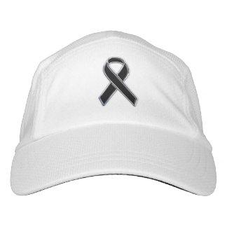 Customizable Chrome Like Black Ribbon Awareness Hat