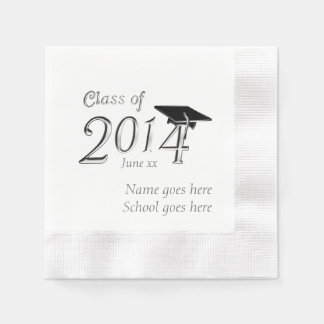Customizable Class of 2014 Graduation Paper Serviettes
