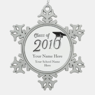 Customizable Class of 2016 Pewter Snowflake Decoration