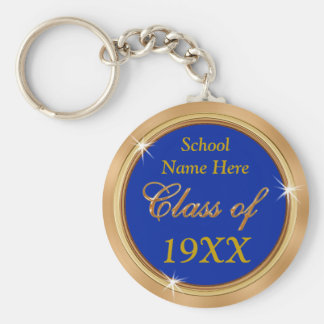 Customizable Class Reunion Keychains, Your TEXT Basic Round Button Key Ring