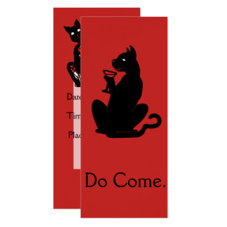 CUSTOMIZABLE COCKTAIL CAT by Slipperywindow Card