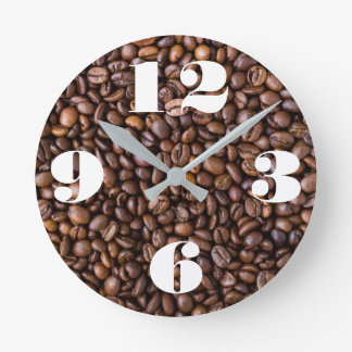 Customizable Coffee Beans. Round Clock
