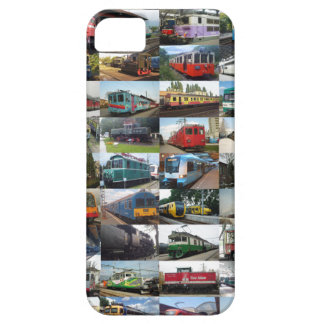 Customizable collage of locomotives barely there iPhone 5 case