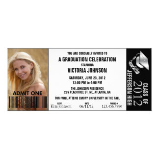 Customizable Color Graduation Admission Ticket Custom Invite
