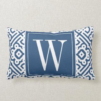 Customizable Color! Modern Labyrinth Monogram Lumbar Cushion