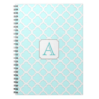 Customizable Color - Monogram Quarterfoil Notebook