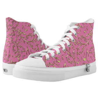 Customizable Color Music Notes Pattern Printed Shoes