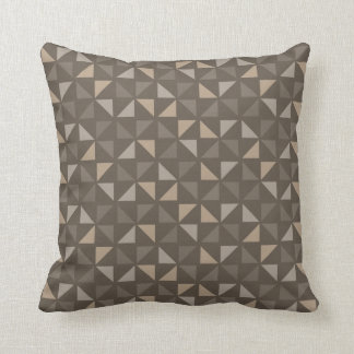 Customizable Color Triangles Pattern - Beaver Throw Pillow