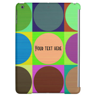Customizable Colorful Circles iPad Case