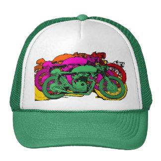 Customizable Colorful Pop Art Motorcycles Cap