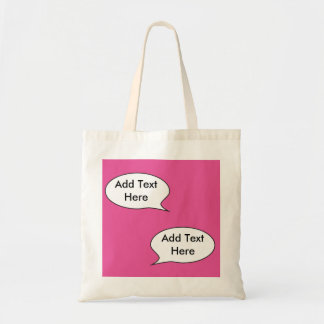 Customizable Comment Bubble Tote Bag