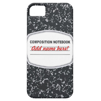 Customizable Composition Notebook iPhone 5/5S Case