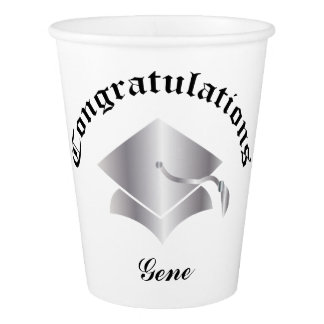 Customizable Congrats Graduation Cups - Silver