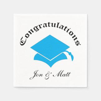 Customizable Congrats Graduation Napkins - LB Paper Serviettes