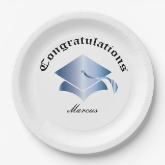 Customizable Congrats on Graduation Plates - BS