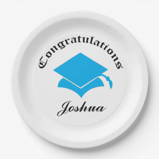 Customizable Congrats on Graduation Plates - LB