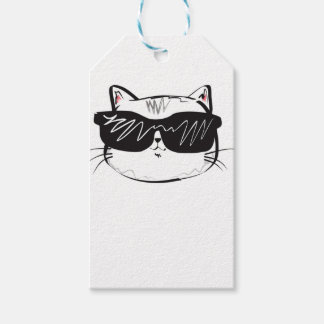Customizable Cool Cat Gift Tags