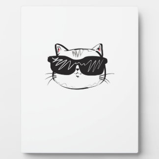 Customizable Cool Cat Plaque