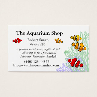 Customizable Coral Reef Clownfish Business Card