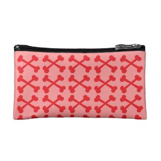 Customizable Crossbones Cosmetics Bags
