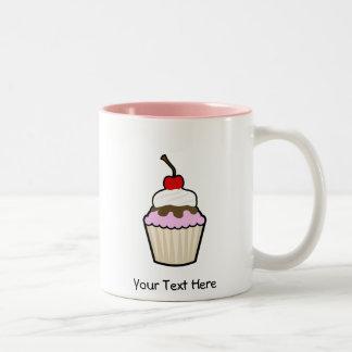 Customizable Cupcake Two-Tone Coffee Mug
